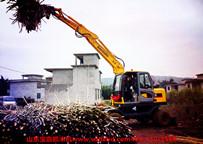 山东宝鼎轮式95抓木机(蔗木装卸机)(甘蔗抓装机)