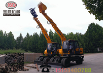 宝鼎BD95多用途轮式挖掘机抓木机