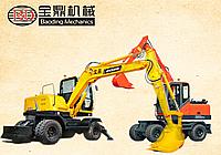 宝鼎轮式挖掘机80型号将该款新一代产品