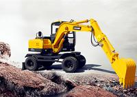 小型轮式挖掘机产品解析-山东宝鼎BD80W轮式挖掘机