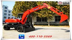 山东宝鼎80轮式挖掘机再次升级配置销售价格更合理