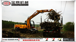 2017年初宝鼎抓木机产品在甘蔗收获和林木装卸市场依旧热销