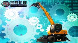 宝鼎BD95-9四驱轮式抓木机五大产品优势闪耀各地市场