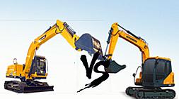 宝鼎BD80-8小型挖掘机对比现代75小型挖掘机主要对比介绍