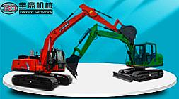 价格亲民买全进口配置车型宝鼎精品BD80-8小型挖掘机和150-6中型挖掘机