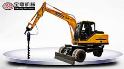 宝鼎95型号多功能挖掘机-旋挖钻具工作