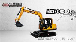 宝鼎BD80-8履带式小型挖掘机产品陈述