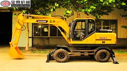 宝鼎BD95W-9多功能轮式挖掘机使用面广符合当下客户使用