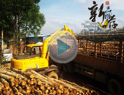 宝鼎轮式抓甘蔗机 抓木机广西工作视频