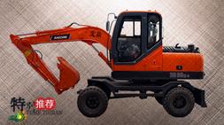 宝鼎BD80W-8轮式挖掘机兼顾多用途更受市场欢迎