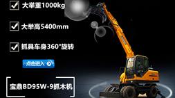 灵活高效、高效节能、安全舒适 宝鼎BD95w-9轮式抓木机