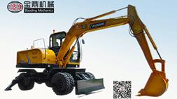 当下轮式挖掘机大热,宝鼎推出多款多用途轮式挖掘机型号