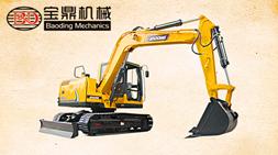 性价比8吨国产挖掘机,宝鼎BD80-8全进口配置小挖机怎么样?