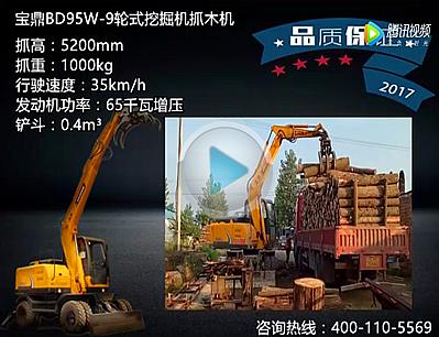宝鼎BD95w-9木材加工厂卸车视频