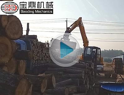 河南信阳抓木机工作视频-宝鼎95抓木机型号