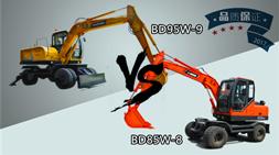 宝鼎小型轮式挖掘机BD85w-8轮式挖掘机和BD95w-9你选谁?