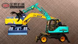 新手购买轮式挖掘机抓木机设备注意事项帮助选择