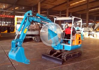 宝鼎挖掘机厂家-BD23小型挖掘机设备工作姿态介绍