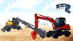 宝鼎两款小型轮式挖掘机BD80轮式挖掘机和BD95轮式挖掘机价格优惠推荐