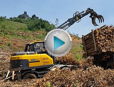 BD95W-9A新款抓木机山地作业工作展示