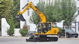 宝鼎履带90小型挖掘机通过全工况测试