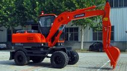 国内轮挖盛行宝鼎厂家研发新款轮式挖掘机80车型