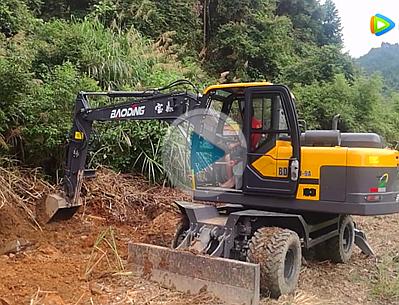 宝鼎新款轮式挖掘机95W-9A型号山地工作视频介绍篇