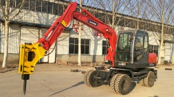 轮式挖掘机用途多样化受到市场追捧