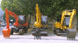 宝鼎轮胎式挖掘机春节前价格促销