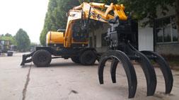 宝鼎BD95W-9A轮式挖掘机抓木机演变历程