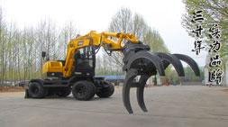 宝鼎抓木机厂家再次增加轮式抓木机车型生产线