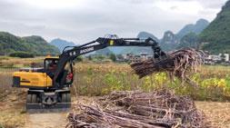 广西抓木机需求放缓,宝鼎轮式抓木机厂家持续畅销