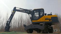 宝鼎全系轮式挖掘机抓木机均可免税上牌照