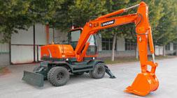胶轮式挖掘机较履带挖掘机车型的优势