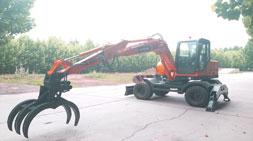 宝鼎抓木机厂家致富工具BD95W-9A轮式抓木机