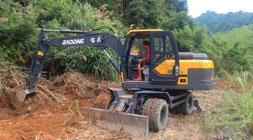 大挖市场惨淡小型轮式挖掘机大放异彩