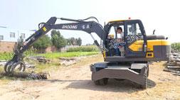 轮式抓木机操作和安全注意事项