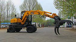宝鼎BD80W轮式抓木机机身小巧节能高效-宝鼎抓木机厂家