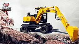 宝鼎BD80W轮式挖掘机:综合性能优越值得信赖