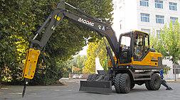 一机多用灵活有我BD95W-9A宝鼎轮式挖掘机工作案例详解