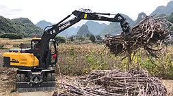 定位高端追求品质-宝鼎BD95W轮式抓木机系列产品