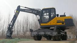 迎国庆宝鼎轮式挖掘机抓木机厂家优惠政策