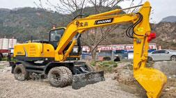 国产挖掘机品牌实现逆转的轮式挖掘机