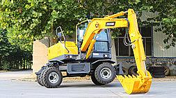 小型轮式挖掘机-2019新款宝鼎BD80W轮式挖掘机型号升级方向