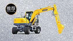 宝鼎新一代小型轮式挖掘机明星产品-BD80W新款型号