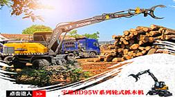 抓重大 爆发力强 工作范围大-宝鼎BD95W-9系列抓木机的确强!