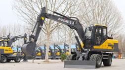 95轮式挖掘机:尽展轮挖中国速度