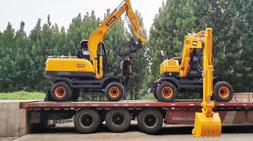宝鼎轮式挖掘机竞争优势的集中体现