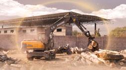 抓木机用途成轮式挖掘机发展主要牵引力