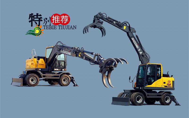 宝鼎抓木机厂家主打抓木机型号简介-多功能轮式挖掘机抓木机